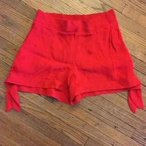 Ella Moss   Short Shorts Side Ties Lux Red SzS